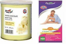 Bee One Chocolat Blanc Laiteux Cire + 80 Bandes Enlever Cheveux Aide Retardateur