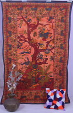 Tages-decke Tree of Live Lebensbaum Wandbehang Bettüberwurf Indien Dekotuch Goa