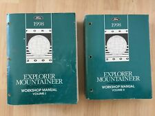1998 Ford Explorer Mercury Mountaineer Service Manual Set 3 volumes w/Electrical
