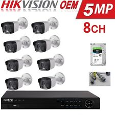 Hikvision 5Mp Cctv System 4K-Uhd Dvr 8Ch Exir 20M Night Vision Camera Kit 4Tb