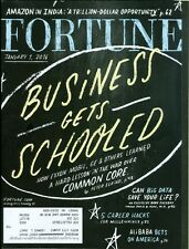 2016 Fortune Magazine: Business Gets Schooled/Amazon in India/Career Hacks