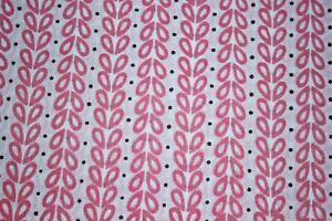 Pink 100% Cotton Ikat Batik Hand Block Printed Dress Material Craft Fabric