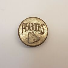 Antique Vintage Peabodys Pig Hog Overalls Work Clothes Picture Button