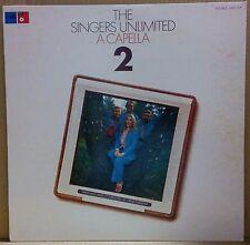 SINGERS UNLIMITED A CAPELLA 2 LP w/Insert Orig JAPAN ISSUE J Dilla Sample