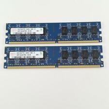 New listing Hynix 4Gb (2x2Gb) Ddr2 Ram Memory 800Mhz Pc2-6400U Hmp125U6Efr8C-S6 Ab