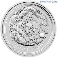 2012 YEAR OF THE DRAGON 2oz Silver Coin Perth Mint