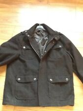 Mens Black Crombie style winter coat.size XL