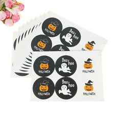60pcs Happy Halloween Pumpkin Paper Stickers DIY Gifts Candy Bags Labels TagsSC