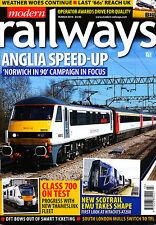 MODERN RAILWAYS 810 MAR 2016 East Anglia,North Wales Coast,Smart Ticketing,Europ