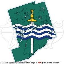 PETERBOROUGH Map-Flag Ontario Canada Canadian Vinyl Bumper Decal Sticker,