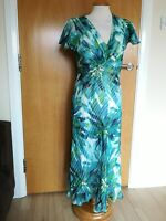Ladies CC COUNTRY CASUALS Dress Size 12 Green White Party Evening Wedding