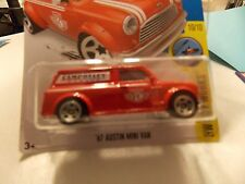 HOT WHEELS 2016 HW CITY WORKS  '67 AUSTIN MINI VAN RED #10/10