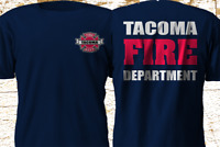New TACOMA Washington Fire Department Firefighter Navy T-Shirt S-4XL