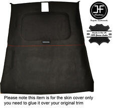 RED STCH ROOF & SUN ROOF HEADLINING LINER PU SUEDE COVER FOR PEUGEOT 205 MK2