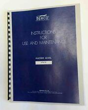 Berco Model APM65 Boring Bar Manual