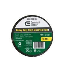 "Heavy Duty Vinyl Electrical Tape 1 1/2"" x 108ft 10 mil 600v, flame retardant"
