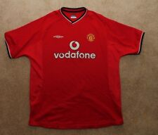 Umbro Manchester United Jersey Vodaphone Sportwool - Mens XL Red Blank