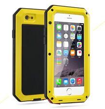 Aluminum Metal Shockproof Waterproof For iphone 8 Plus Glass Case SE 5S 6S 7