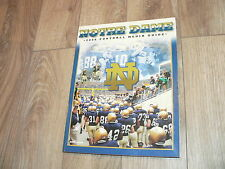 Notre Dame Fighting Irish Football 2006 Media Guide~Players, Stats, History