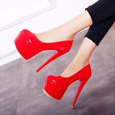 Womens High Heel Patent Leather Platform Pumps Party Shoes AU Size 2--13 C472