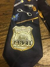 POLICE COP A.ROGERS SILK DESIGNER SUIT NECKTIE TIE CONFERENCE FREE SHIPPING