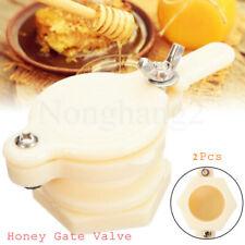 2x Plastic Bee Honey Tap Gate Valve Beekeeping Extractor Tool Bottling Equipment