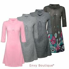 Cowl Neck Short Sleeve Casual Dresses for Women