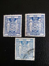 NEW ZEALAND 1967 Postal Fiscals $10 x 3 used stamps.