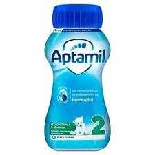 4 x Aptamil 2 Follow On Milk 6-12 Mths Ready to Feed 200ml USE BY DATE 18/7/2021