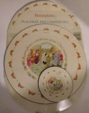 Bunnykins 1992 Placemat & Coaster Set