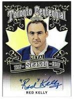 2016-17 Red Kelly Leaf Metal Toronto Centennial Auto Black 2/4 - Maple Leafs