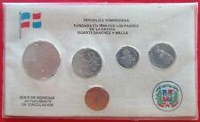 DOMINICAN REPUBLIC ½ PESO thru 1 CENTAVO 1989 Dominicana Dominikanische Dom Rep