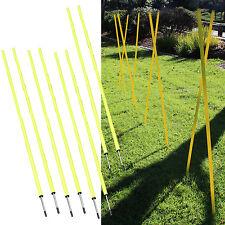 Slalom Poles 5FT [Set of 8] Agility/Speed Training Soccer/Football/Baseball