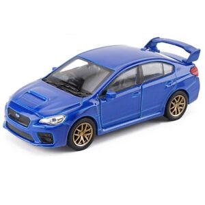 1:36 Subaru Impreza WRX STI Car Model Alloy Diecast Toy Vehicle Blue Gift Kids