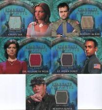 Stargate Atlantis Season One Costume Card Lot 5 Cards