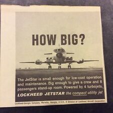 Advertisement - Lockheed Jetstar - 1962