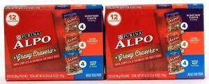 2 Purina Alpo Gravy Cravers Variety Pack Roast Beef Chicken and Beef in Gravy
