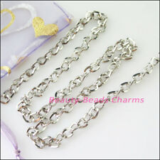 100 x collar de color platino Plegable Cable Crimp End Cap-Joyería Hallazgos