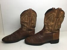 VTG WOMENS OLD WEST COWBOY BROWN BOOTS SIZE 7