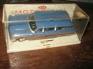 Vintage 60s Ideal MOTORIFIC blue Ford COUNTRY SQUIRE Woody Panel Wagon white Box