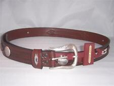 Cody James Brown Leather Southwestern Belt Size 46 New with Tag