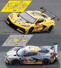 Decals Corvette C8R Daytona 2020 1:32 1:24 1:43 1:18 64 87 C8 R Chevrolet calcas