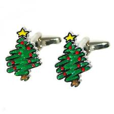 CUFFLINKS Christmas Tree Party Fun Yuletide Festive Xmas BIRTHDAY PRESENT