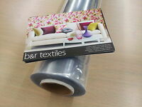 CLEAR PVC VINYL OILCLOTH TABLECLOTH WATERPROOF SEAT TABLE PROTECTOR COVERINGS