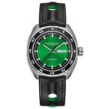 Hamilton Homme 42mm Bracelet Cuir Noir Saphire Automatique Montre H35415761