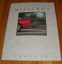 Original 1991 Mazda RX-7 Sales Brochure Turbo Convertible