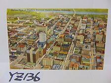 Vintage Posted Postcard Stamp 1940'S Skyline View Of Omaha Nebraska Business