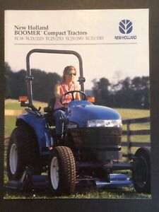 New Holland Tractor Sales Brochure Boomer Compact Models Farm Agriculture