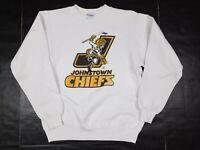 Vtg 80s Johnstown Chiefs Hockey Crewneck Sweatshirt Adult M USA