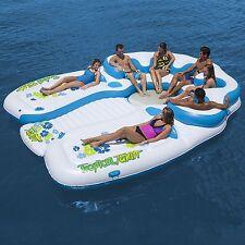 Tropical Tahiti Giant 7 Person Inflatable Raft Pool Lake Ocean Floating Island